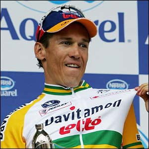 McEwen celebrates his stage five victory