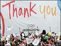 The London 2012 team are set to come home to a heroes' welcome after the capital won the right to host the Olympics.