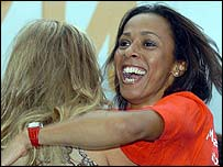 Kelly Holmes celebrates London's success