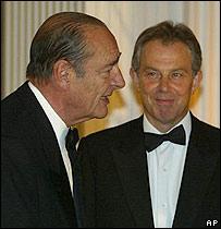 Jacques Chirac y Tony Blair