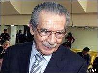 Guatemala's former military leader Efrain Rios Montt