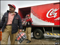 Coke delivery lorry in Kabul