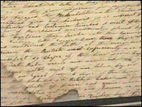 Battle of Trafalgar letter