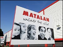 Matalan sign outside one of the company's stores
