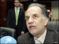 Iranian oil minister Kazem Vaziri Hamaneh