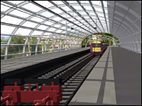 Image of Glasgow Airport train platform