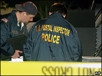 US postal inspectors at the shooting scene