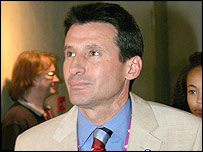 Lord Coe after the Olympic decision in Singapore