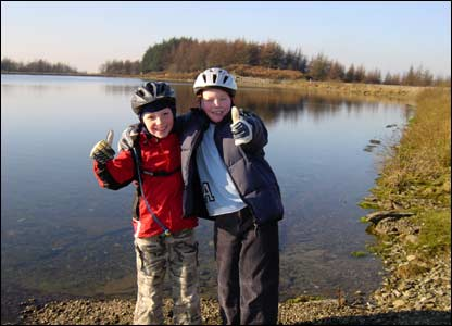 Trevor Owens from Wrexham sent in this shot of his son Joe and his friend Ben at Llandegla Forest