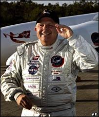 Steve Fossett at Cape Canaveral on 12 January, AP