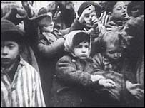 Jewish children at a German concentration camp