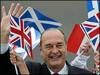President Chirac at Prestwick