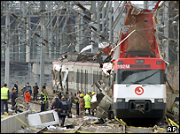 The second train that was attack in Madrid