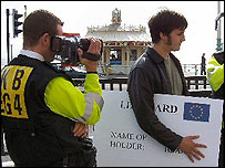 Mark Wallace in Brighton (Freedom Association campaign picture)