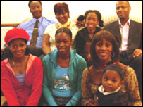 Pictured (clockwise): Robert & Margaret Christopher, Simone Townsend, Ricky Christopher,  Shez Christopher,  Simone Pennant,  Deborah Christopher