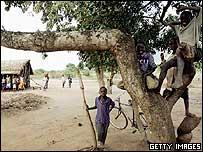 Children in Mozambique village