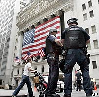 Police outside NYC stock exchange