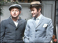 Benny Hill [L] and Henry McGee