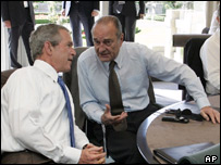 George W Bush and Jacques Chirac