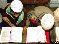 Children in a madrassas in Bangladesh's capital Dhaka