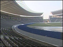 The Olympiastadion in Berlin