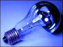 Incandescent light bulb.  Image: BBC