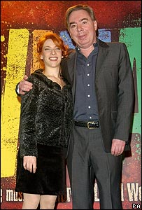 Andrew Lloyd Webber with Evita actress Elena Roger
