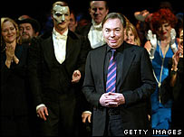 Andrew Lloyd Webber at Phantom of the Opera performance