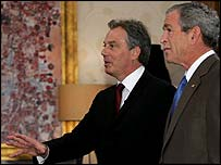 Tony Blair and George W Bush