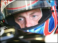 Jenson Button prepares for the British Grand Prix at Silverstone