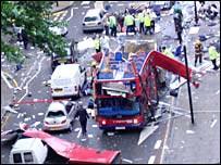 Scene of bus explosion