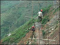 Construction workers in Guizhou