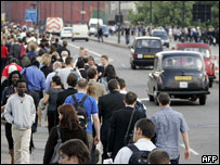 Thousands of commuters chose to walk for hours to reach home