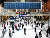Liverpool Street Station on Friday morning