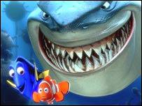 Escena de Buscando a Nemo.