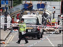 Scene of one of the London bombs