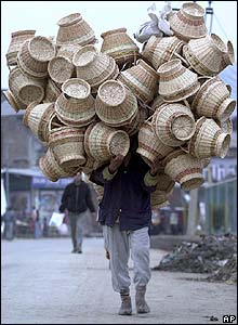 Basket seller in Srinagar