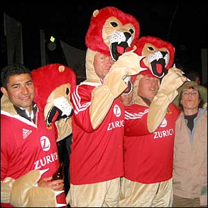 Oliver Cunliffe's photo of him and his friends in Lion suits