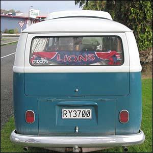 George and Sarah Pettit's camper van