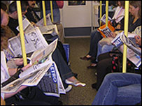 Tube carriage interior