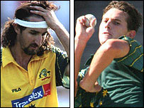 Jason Gillespie and Shaun Tait