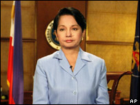 Philippine President Gloria Arroyo addressing the nation, 27 June