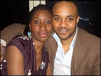 Anthony Fatayi-Williams with a friend