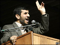 Mahmoud Ahmadinejad addresses crowds in Bushehr, southern Iran
