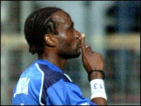 French defender Pascal Chimbonda