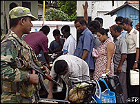 Security forces in Trincomalee