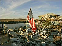 Damage caused by Hurricane Katrina