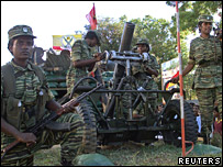 Tamil Tigers at a ceremony in Kilinochchi