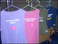 Photo of brightly-coloured T-shirts