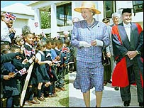 The Queen visiting Bermuda, still British owned, in 1994
